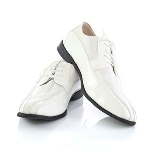 Stacy Adams White Patent Gala Tuxedo Derby Shoes